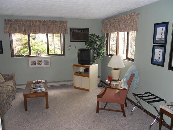 bright , everything needed included, walk out door to garden and grill area
