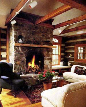 The Living Room in The Cabin at Wintergreen