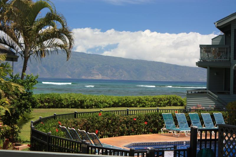 Enjoy this spectacular view of Molokai from our lanai - 3BD3BA Beautiful Hawaiian Home Away From Home - Lahaina - rentals
