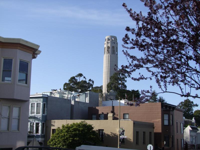 Coit tower is just around the corner