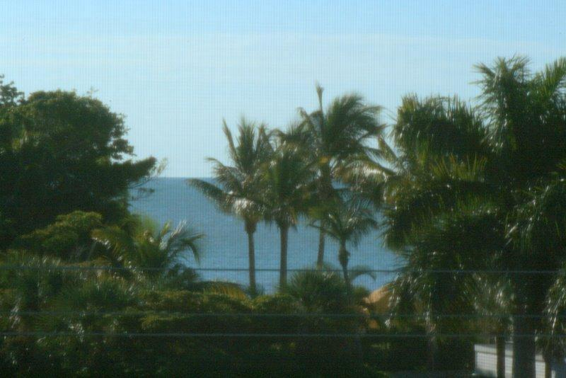 'peek-a-view' of Gulf from our lanai