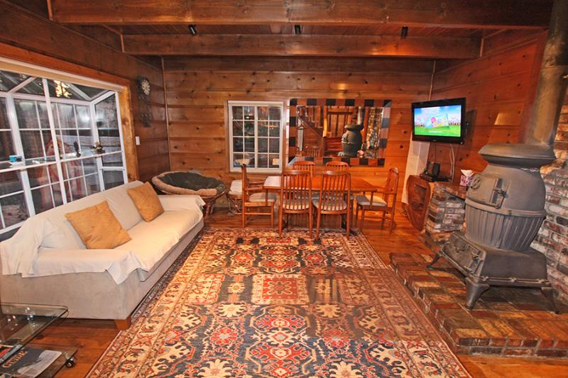 Traditional Knotty Pine Style Infused by All Modern Amenities