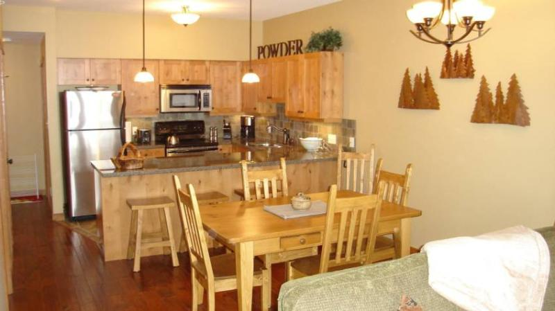 Dining Room and Kitchen - warm and comfortable!