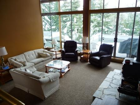 Our spacious living room.