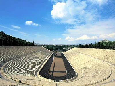 location: The ancient Panathenean Stadium or 'Kallimarmaro'