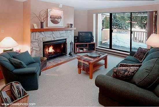Relax and enjoy the private, quiet forest setting and Fitzsimmons Creek outside your living room window.