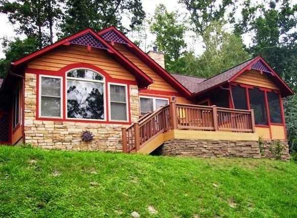 Front deck of chalet - Sunset View / Romantic getaway in Smoky Mountains - Pigeon Forge - rentals