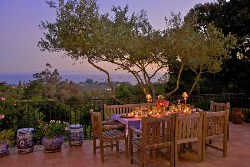 Evening Dining on the Terrace