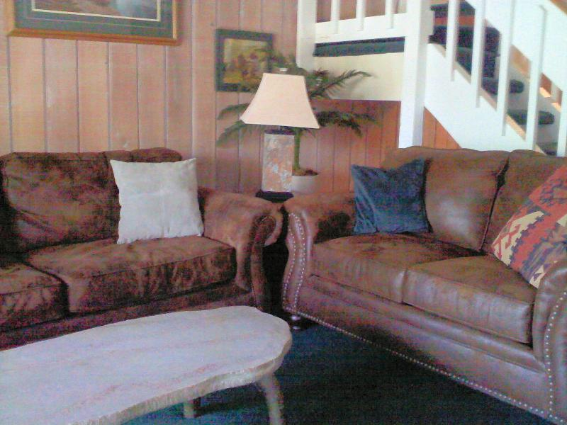 Warm, Soft and Cozy Ultrasuede Couch and Love Seat