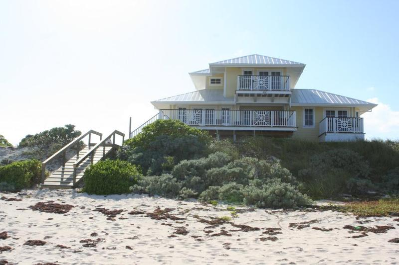 Beachside view of home