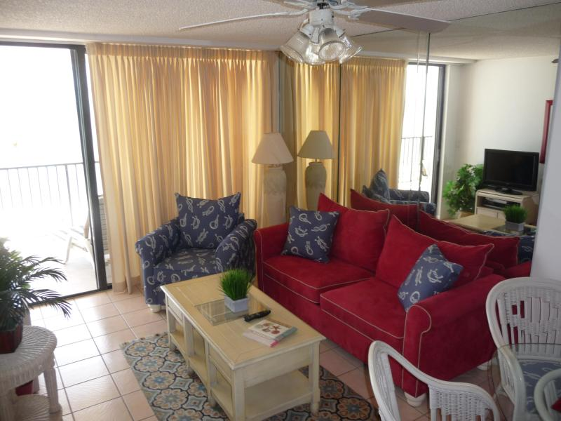 Living Room - Marco Beach front with Everything Close - Marco Island - rentals