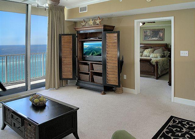 Living Area with Beautiful Gulf Views