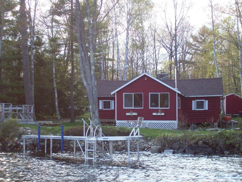 Waterfront  view of cabin