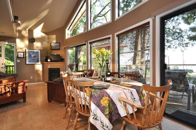 Open concept, living & dining area.