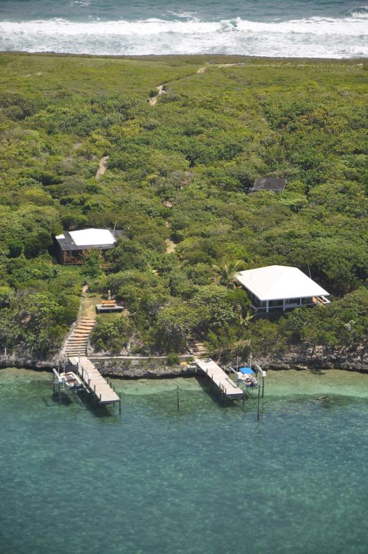 Ariel view of TWT-Sea to sea, Bungalow is on the left.