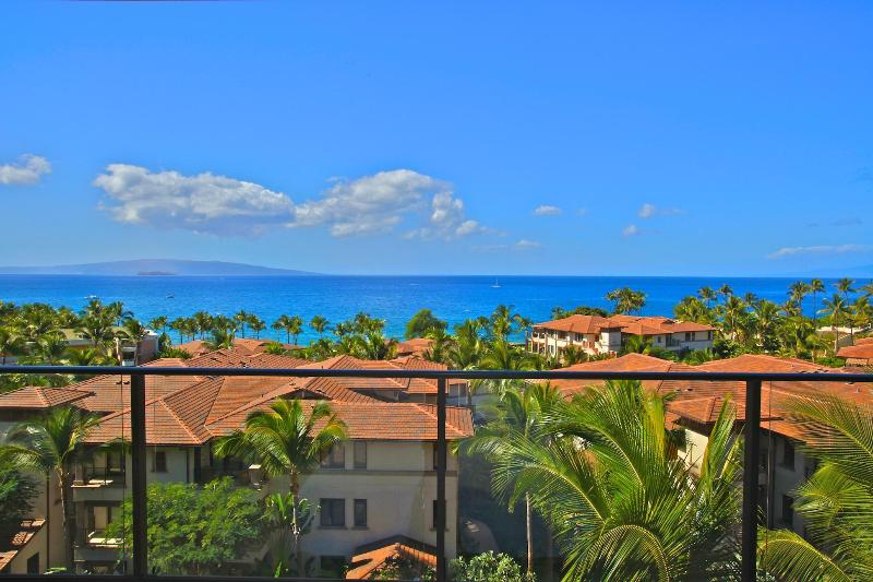 Amazing panoramic ocean views from the lanai. Watch whales swim by!