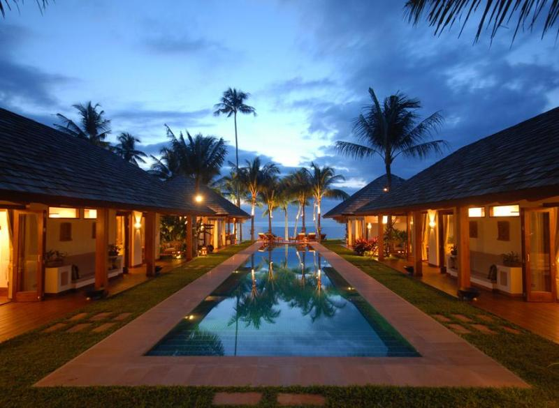 Baan Mika Villa - Main view at sunset
