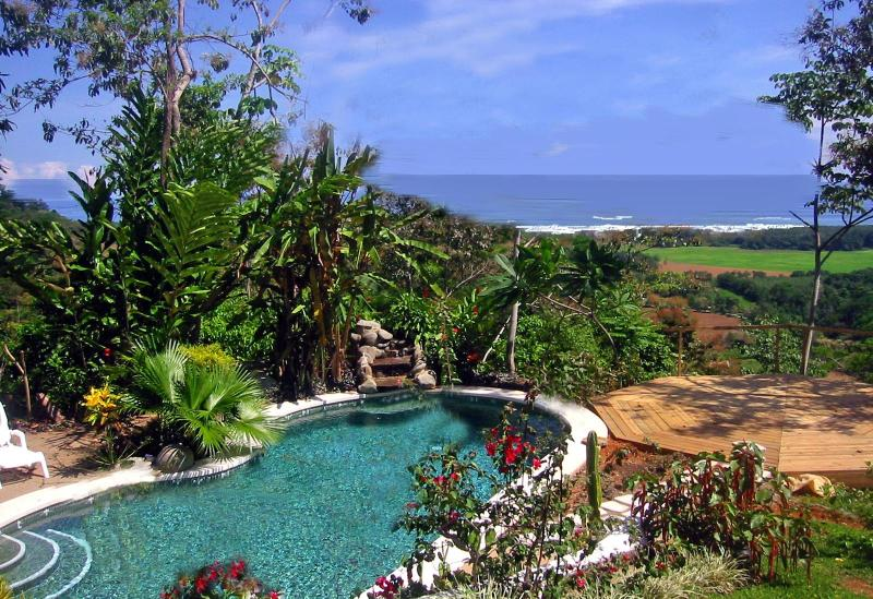 Pool and Ocean view from breakfast table
