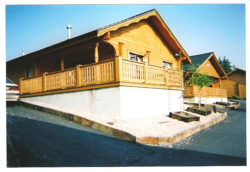 Side View of the lodge - SCANDINAVIAN  LODGE, 2 GLENMALURE PINES, CO. WICKLOW - Rathdrum - rentals
