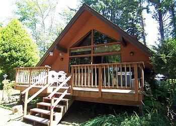 Great ocean view cabin - wooded and private.