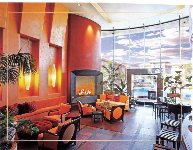 elegant fireplace in club house