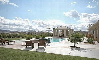 Relax by the pool w/ spectacular mtn/valley views!