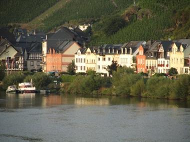 My Europe Base, Mosel River, Rheinland (our house is 2nd from the right)
