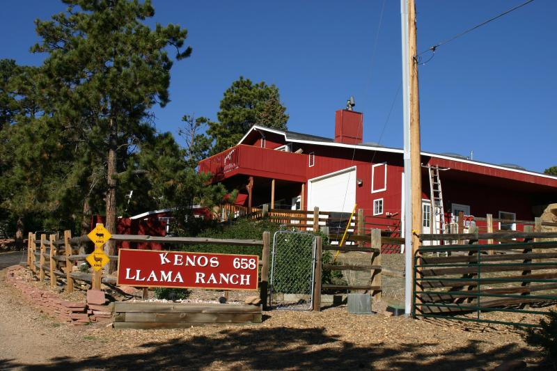 We are Open!!  Entrance to Kenos Llama Ranch & Condos