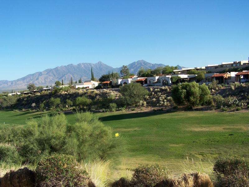 Golf Range with Mountians in the back ground (view from your patio)