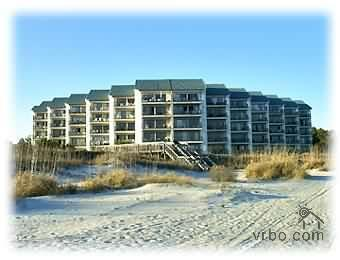Beautiful view of condo from beach - Sea Cloisters Ocean Front Condo/Beach Awaits All - Hilton Head - rentals