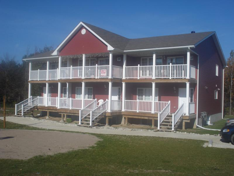 Front view of Chalets