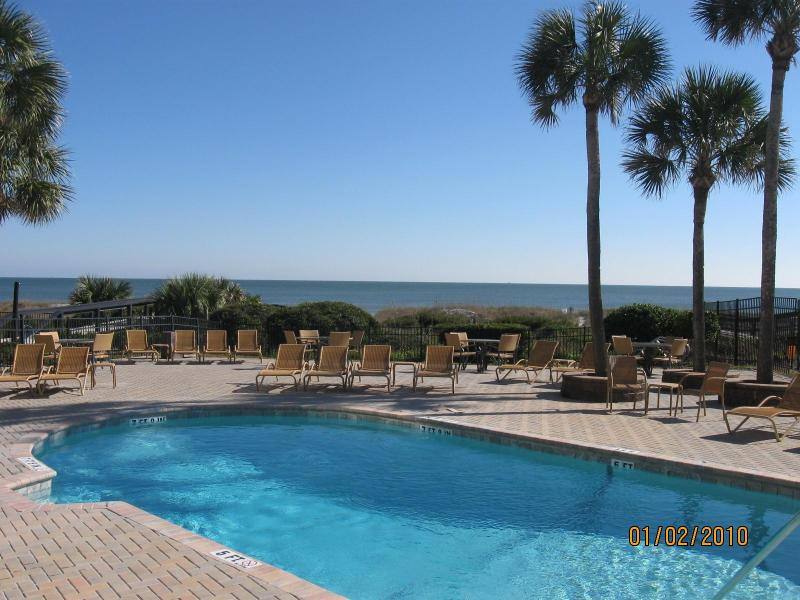 Relax at the Pelicans heated oceanfront pool for guest use only.