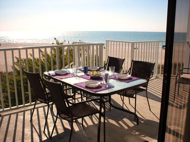 Lunch on balcony with a spectacular view of the Gulf of Mexico