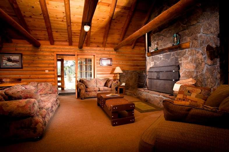 Lakeview cabin living room