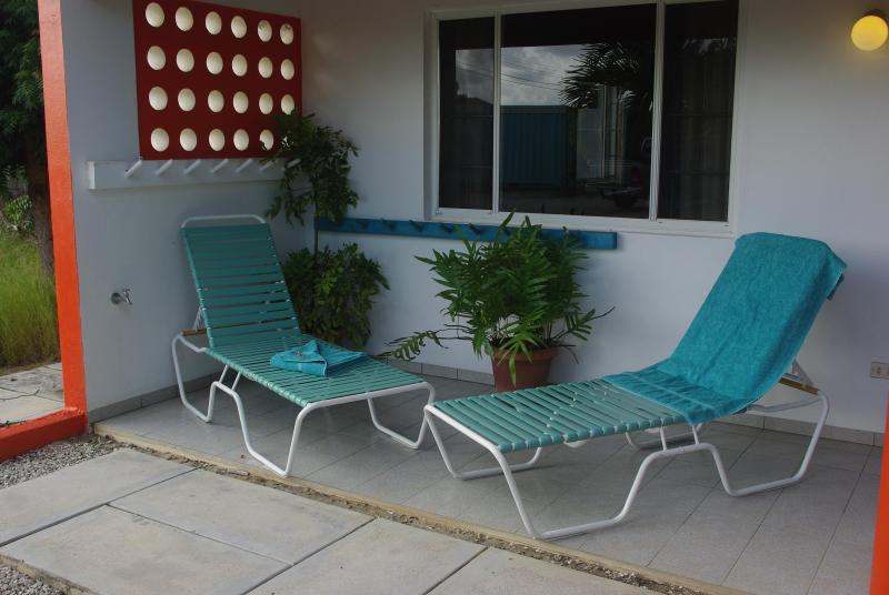garden view terrace with chairs lounge