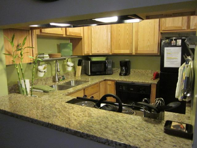 Updated kitchen with granite counters and new appliacnes