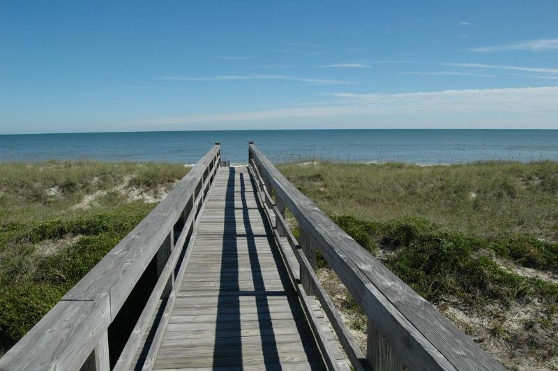 Board walk to beach - Beach Access #24 on A1A - 1 Block from the ocean, Available now! - Fernandina Beach - rentals