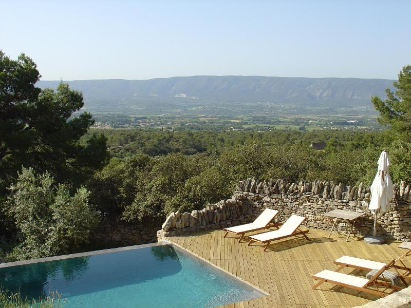 View of the valley from the pool deck