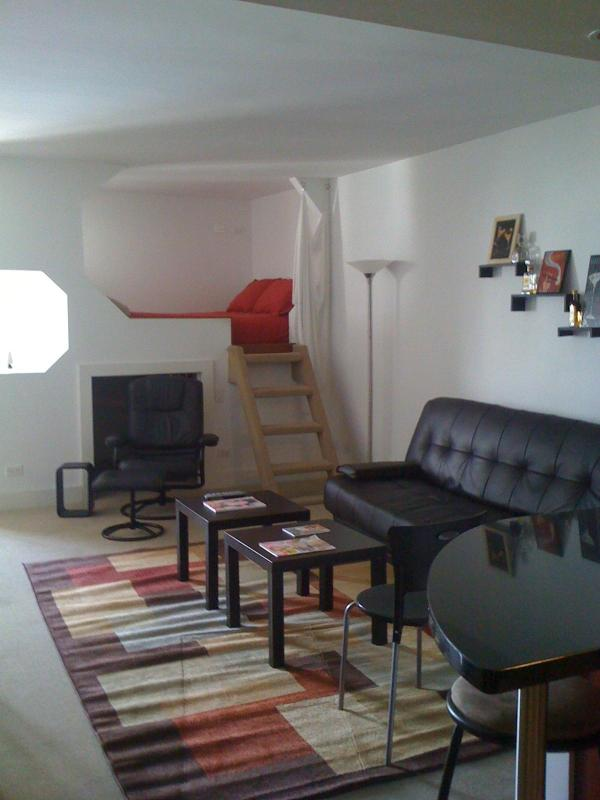 Living Room Area with Lofted Bed