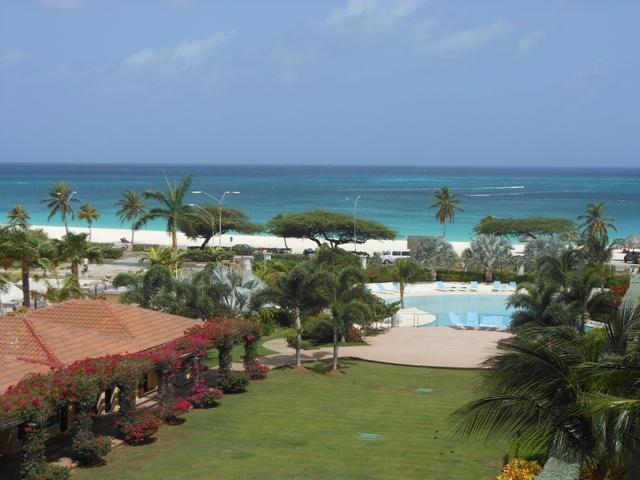 Panoramic Ocean and pool view from the Emerald Two-bedroom.