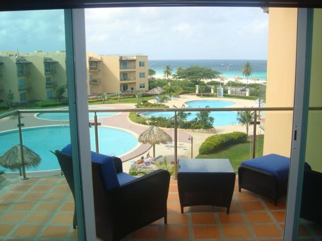 Beautiful ocean view from your balcony & living room