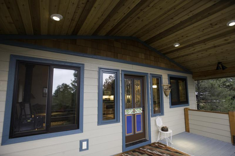 Deck at Tree top opens to Craftsman Inside and out.
