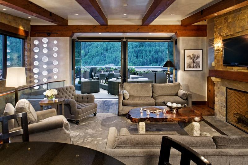 The penthouse great room is spacious, comfortable and beautiful.