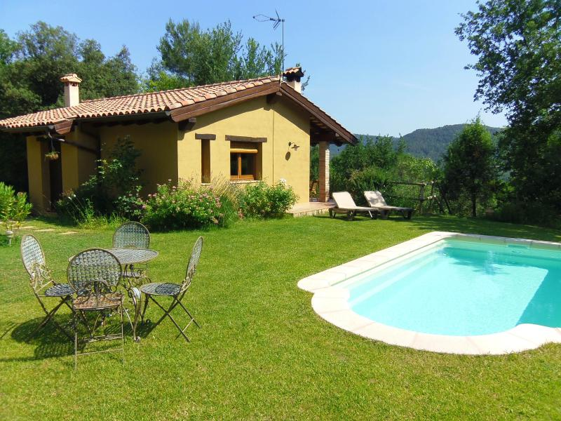 Idyllic hill-top cottage with private pool inland Costa Brava Spain