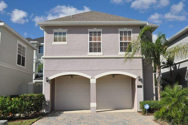 front of the house with garage and condo upstairs for guests - Reunion 1 - 5 bedroom house in Kissimmee - Kissimmee - rentals