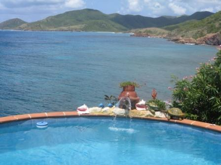 View from the private pool towards Rendezvous - Oceanfront hideaway for an ideal vacation base - English Harbour - rentals