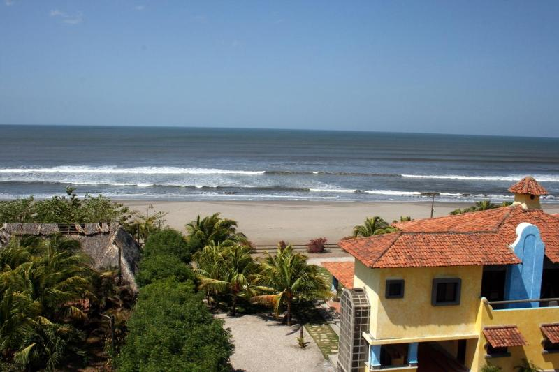 Aereal view of Pochomil Beach vacation rental home - Beachfront Large Spanish Estate. Free Car Rental - Pochomil - rentals