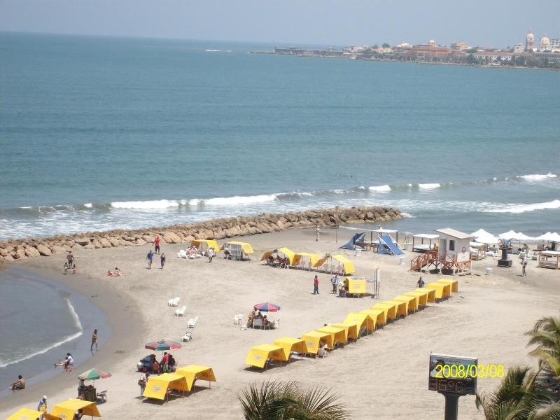 View from Terrace - Nice Ocean Front Apartment in Bocagrande - Cartagena - rentals