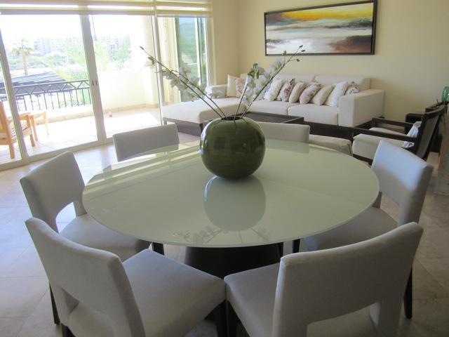 Dining and Living area with TV and Stereo