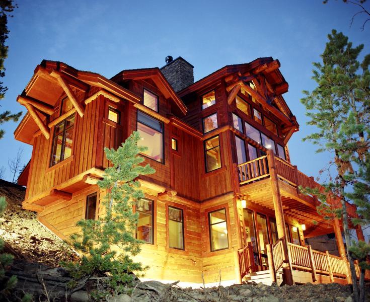 This gorgeous home takes full advantage of the mountain setting.